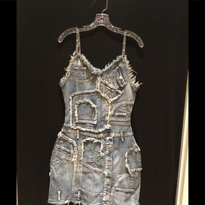 Very cool Platinum Plush Denim dress Size M